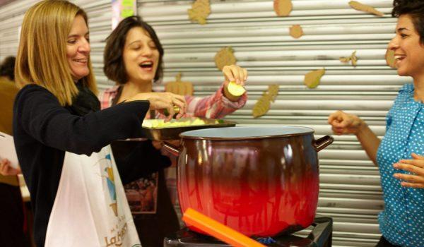 Cocinando en el Mercado de Argüelles