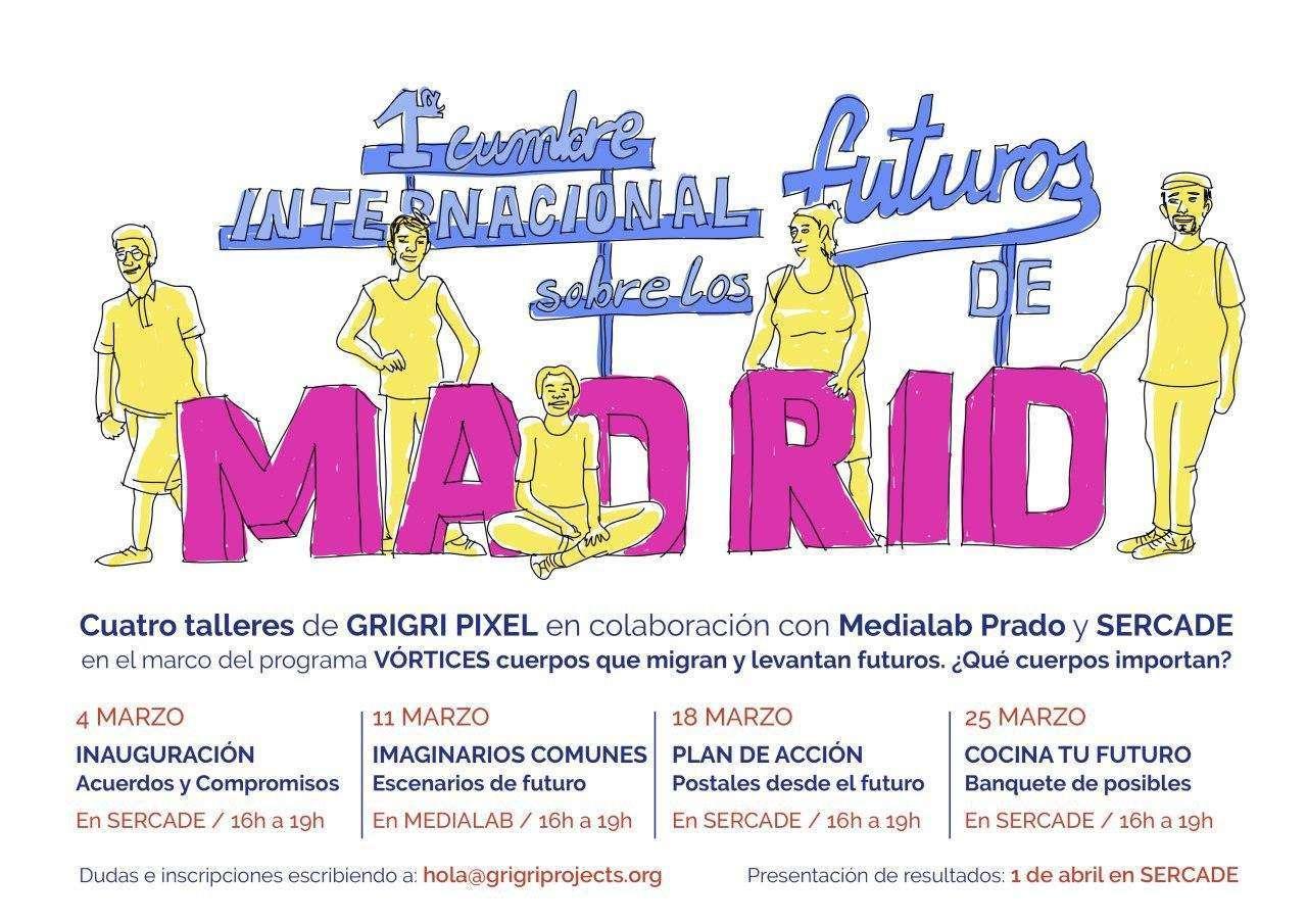 CUATRO SESIONES para futuros posibles en la ciudad de Madrid