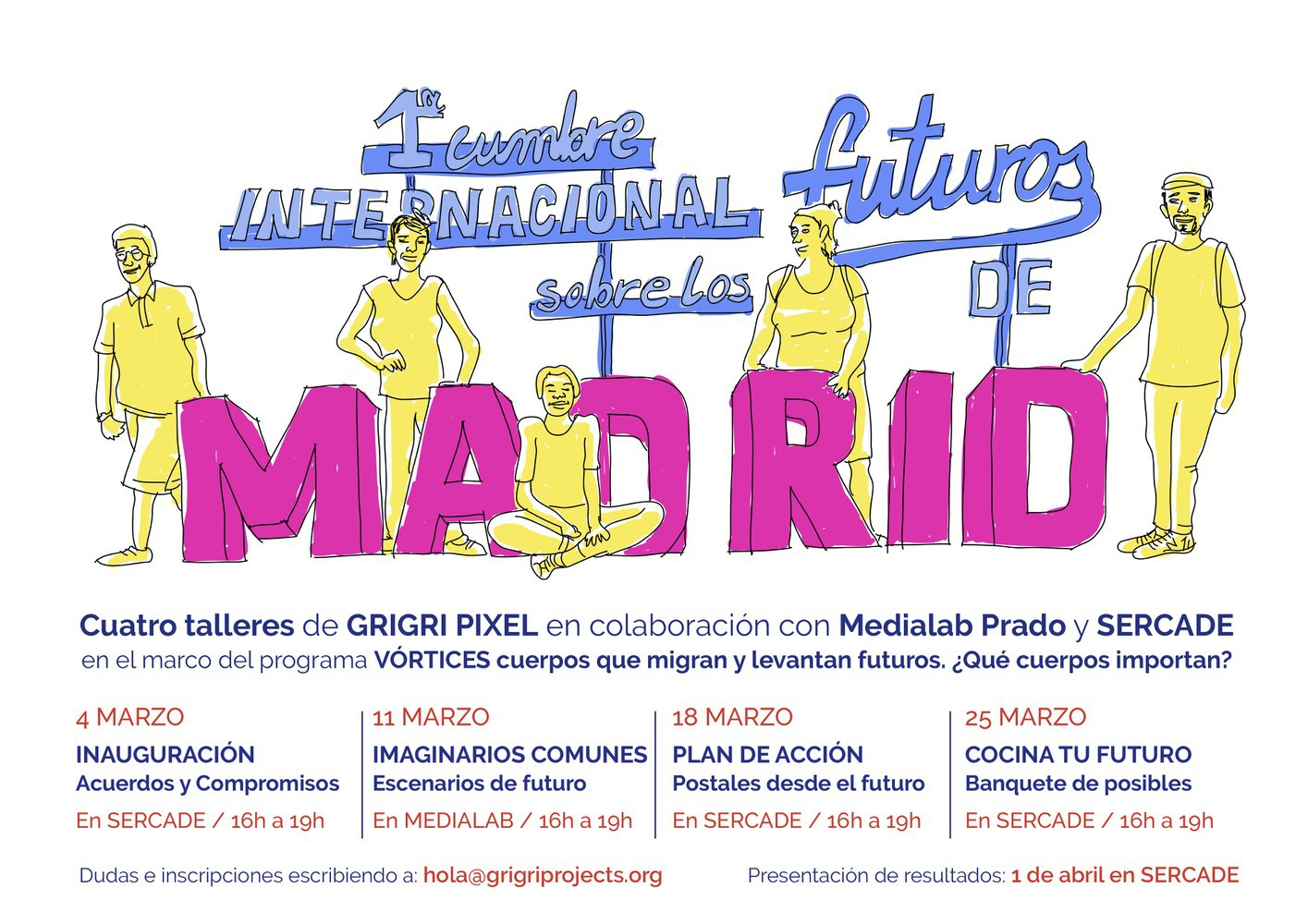 FOUR SESSIONS for possible futures in the city of Madrid
